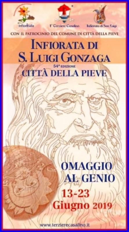 INFIORATA 2019 Festeggiamenti in onore di San Luigi Gonzaga,  Patrono del Terziere Casalino 13 - 23 GIUGNO