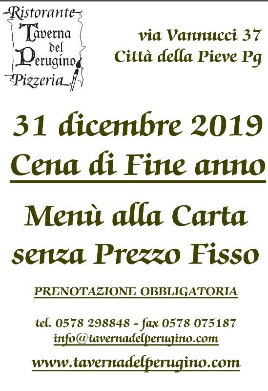 31 dicembre 2019 Cena di fine anno